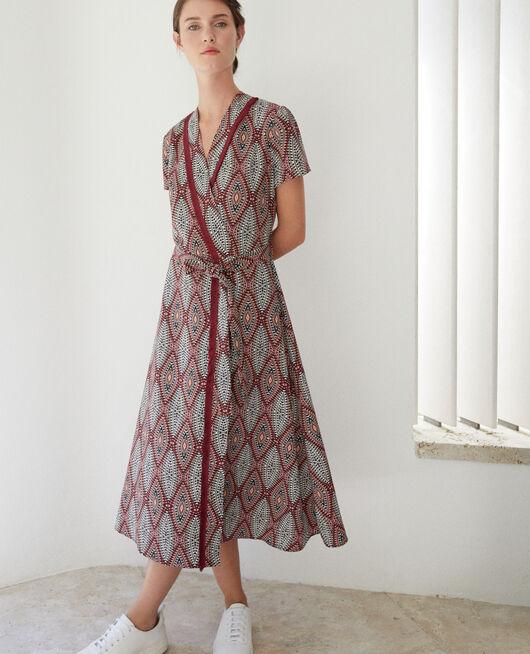 Printed maxi dress Brown