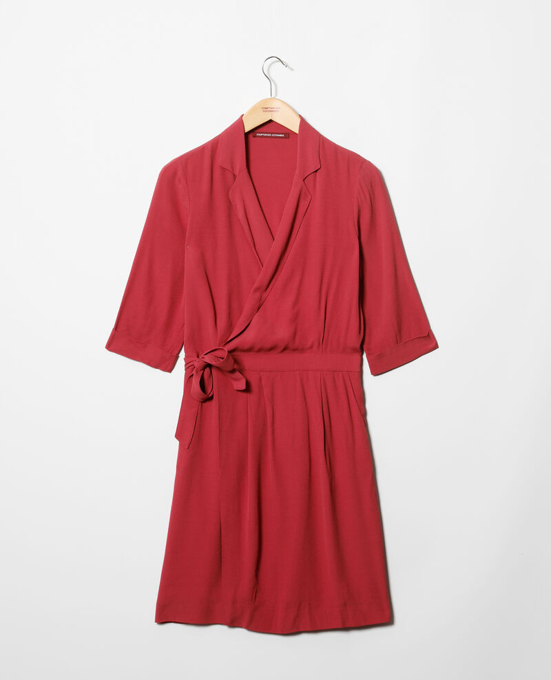 Wrap dress Earth red Gideen
