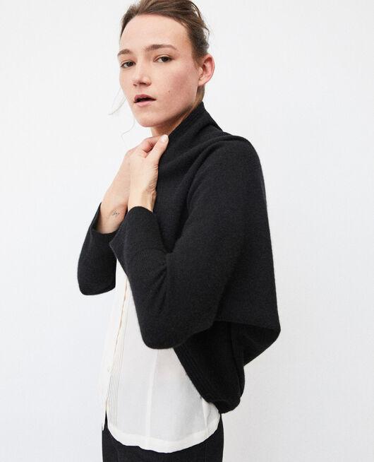 Cashmere blend bolero-style jumper Black