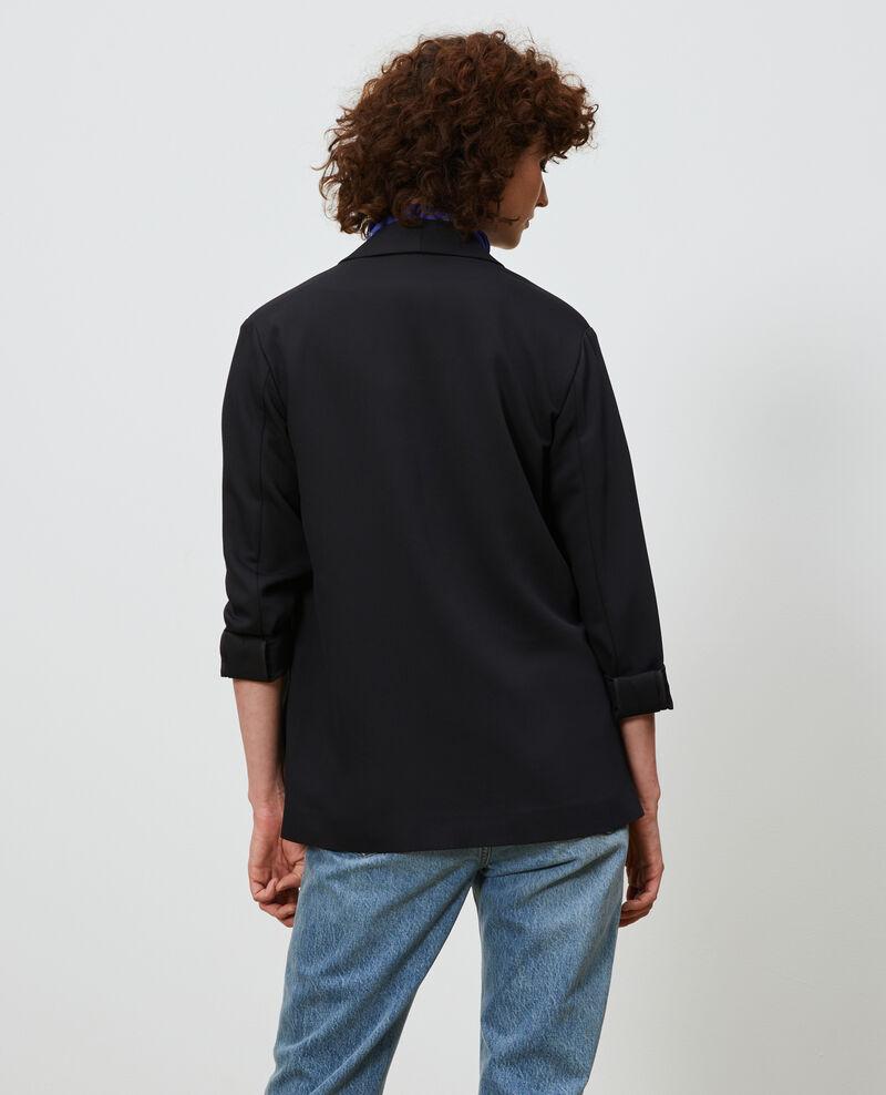 Tuxedo-style jacket Black beauty Nevibal