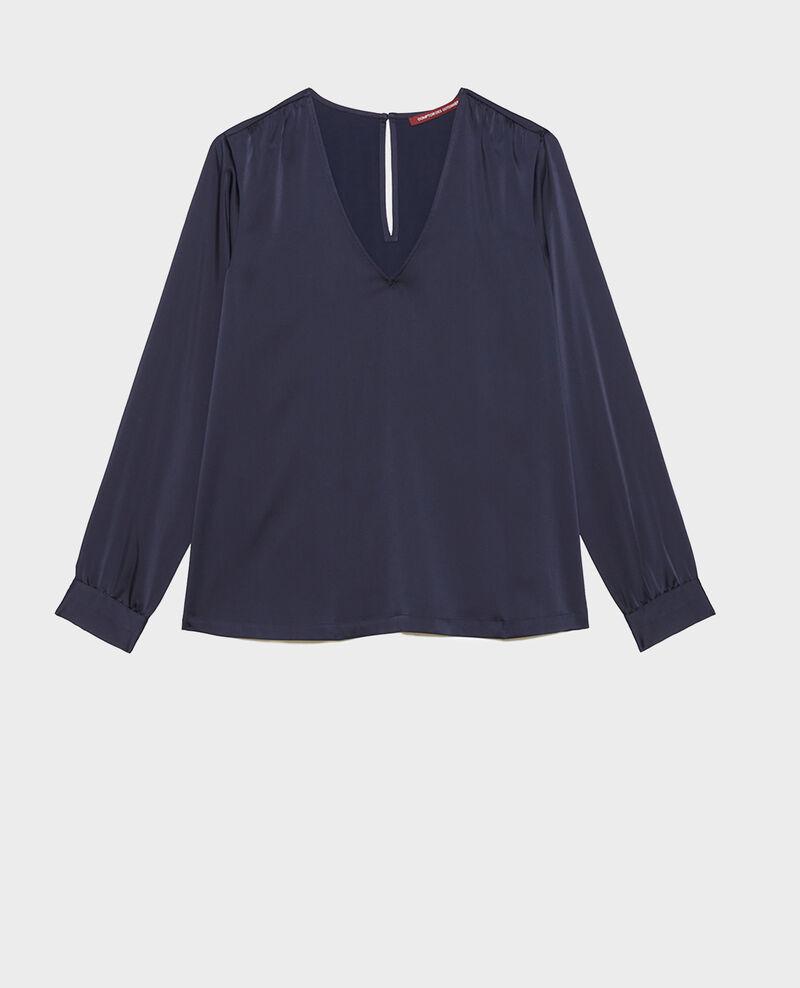 V-neck long-sleeve top Night sky Meuzac