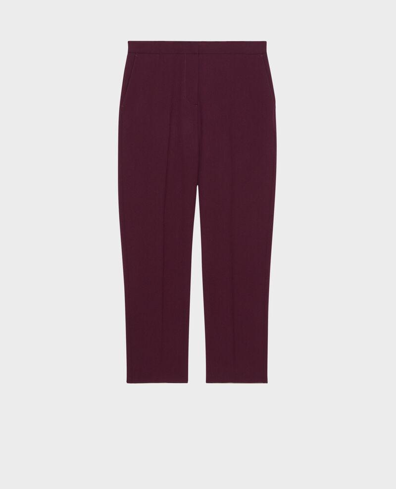 MARGUERITE trousers, wool 7/8 cigarette pants Potent purple Noko