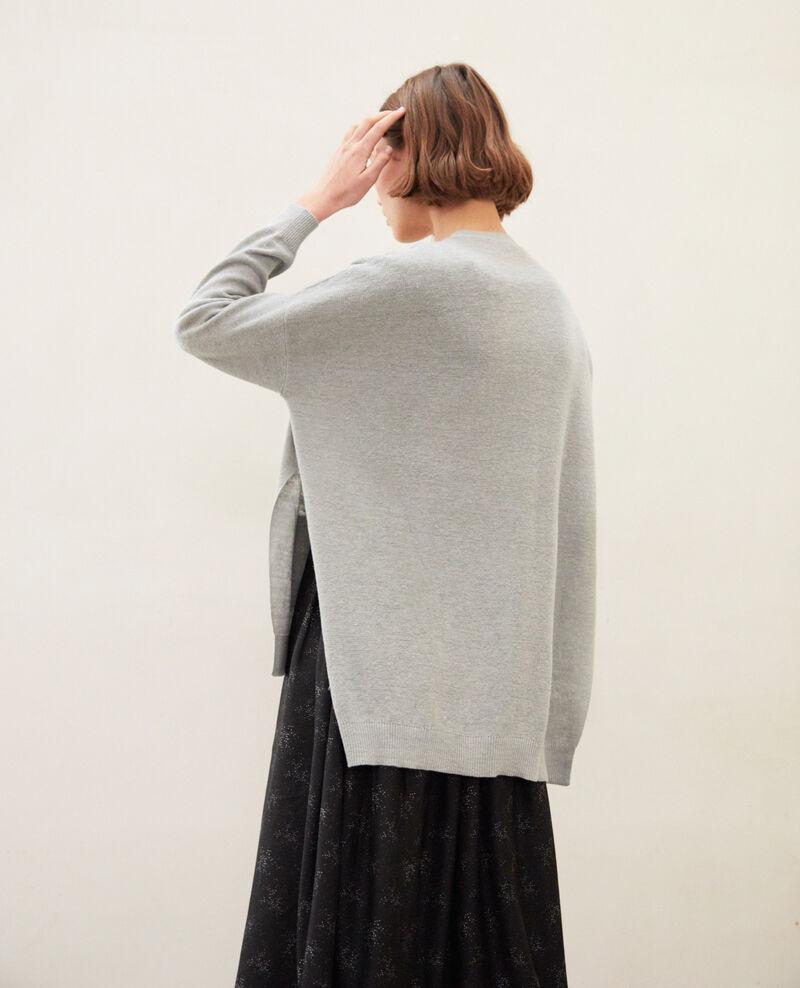 Oversize cardigan Light grey Ilubi