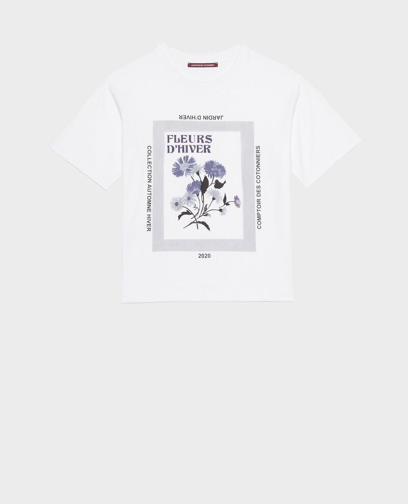 Wide cotton t-shirt Light grey melange Masny