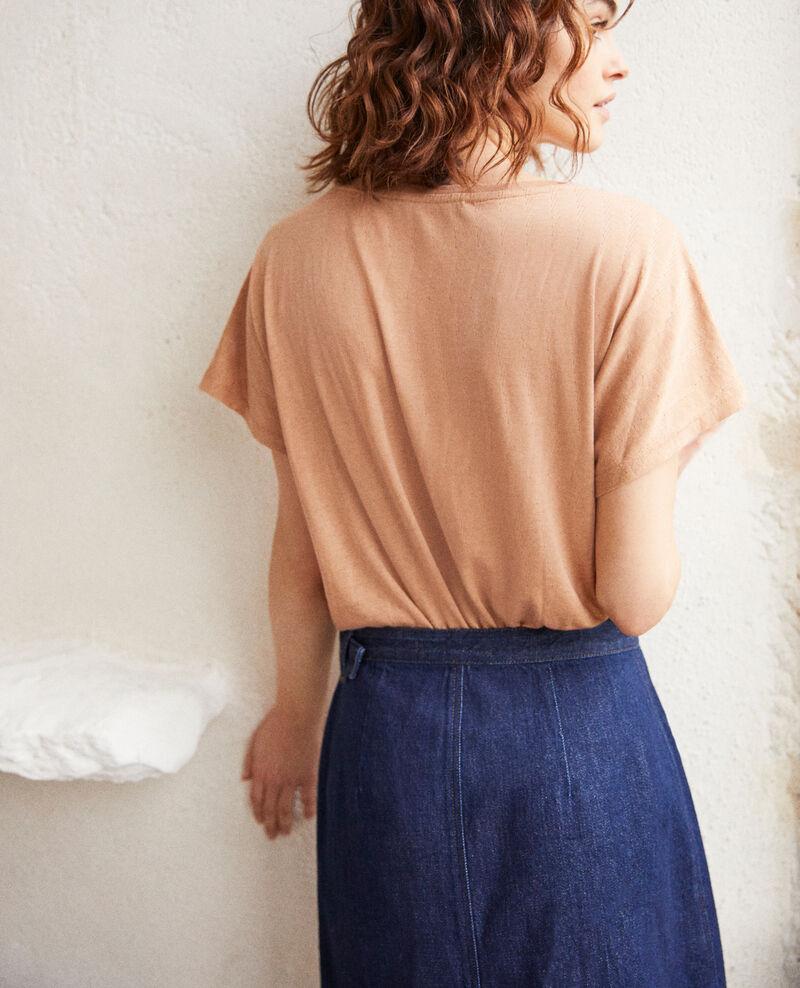 Soft-touch t-shirt Caramel beige Ivoire