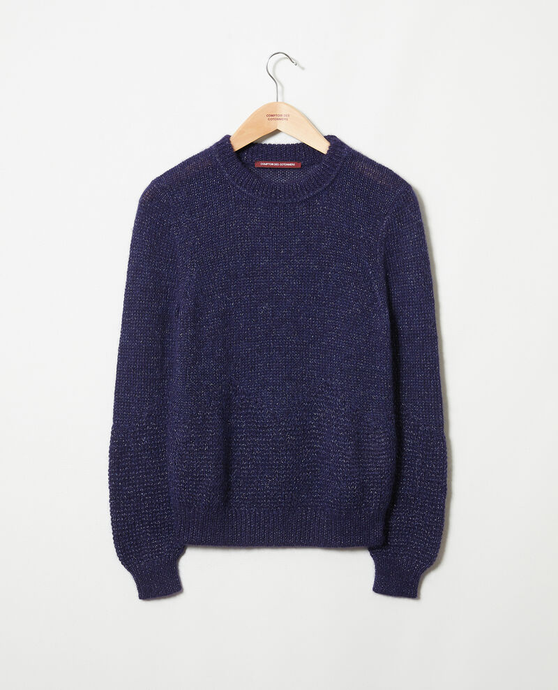 Novelty knit jumper Evening blue Jaheim