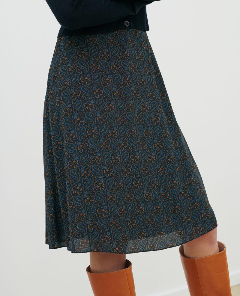 Silk skirt Paisley blue Pirma