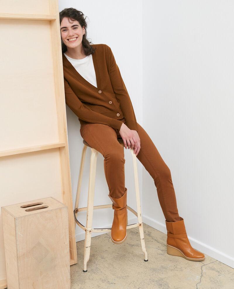 Cropped merino wool cardigan Monks robe Palabre