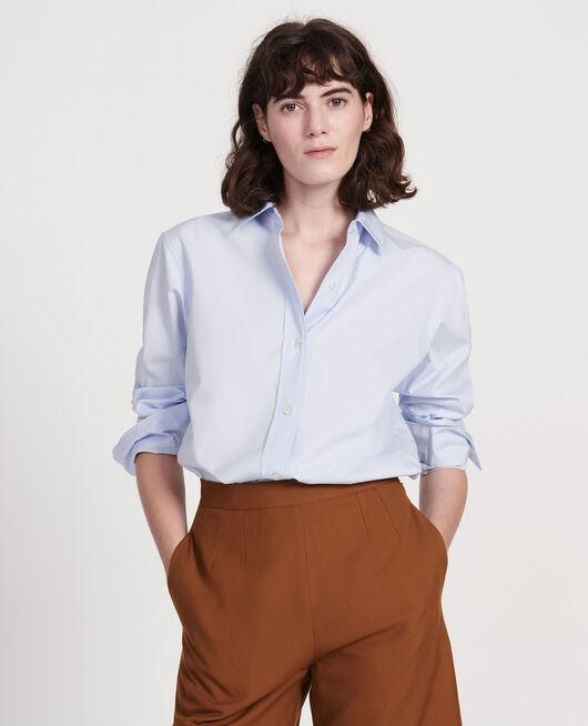 Cotton boyfriend shirt HEATHER