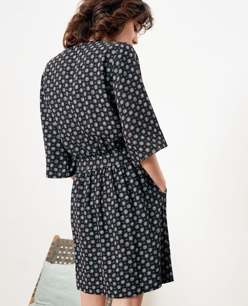 Printed dress with buckle Dandelion black Faustine