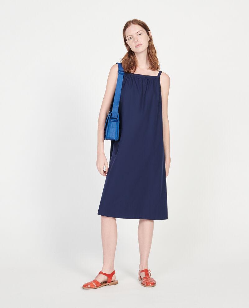 Cotton dress Maritime blue Lisle
