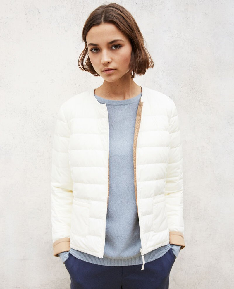 Reversible Mademoiselle Plume jacket Blanc Gallopo