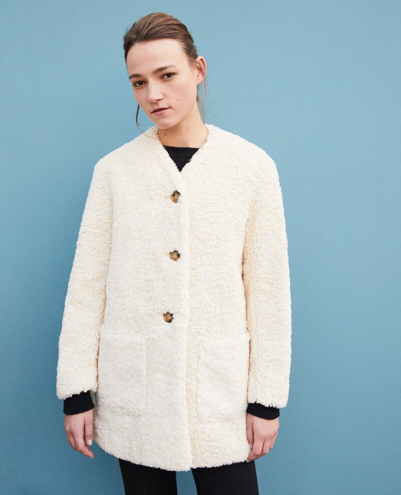 Faux fur coat Off white Germonti
