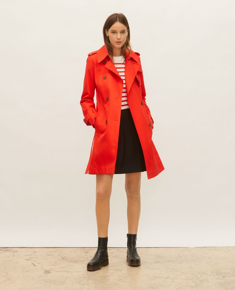 Iconic cotton trench Fiery red Lambert