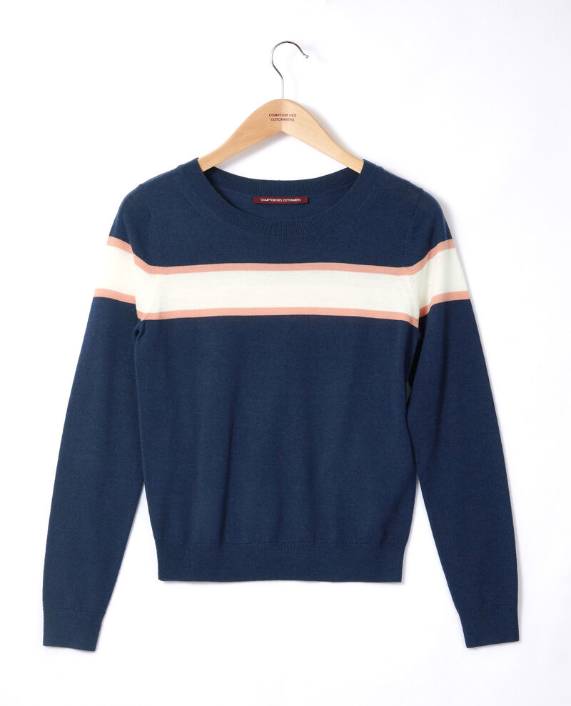 Merino wool cardigan Blue Gengoux