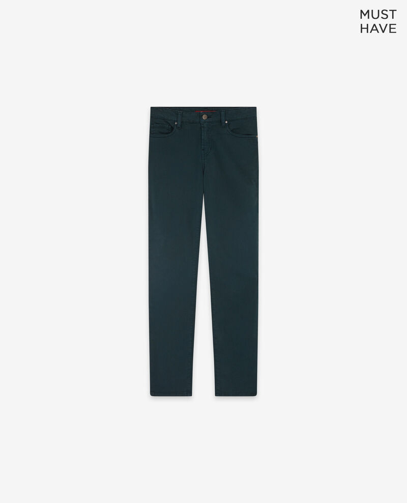 Soft touch cigarette fit jeans Deep green Dhanna