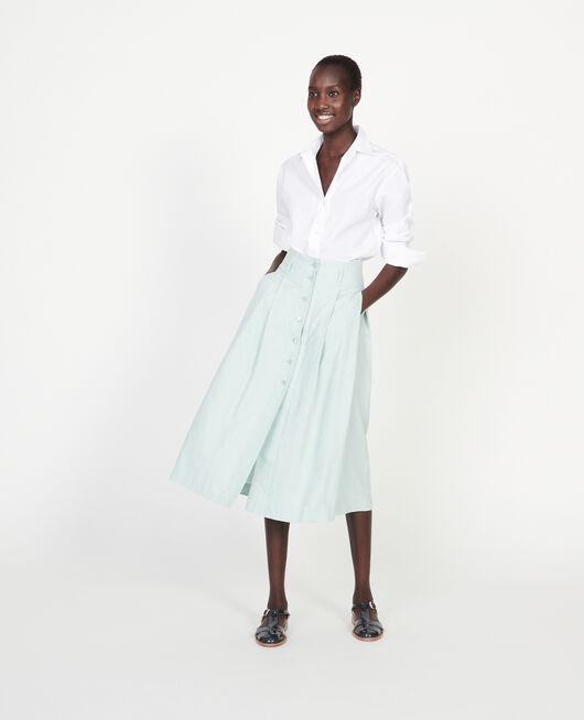 Loose linen skirt BLUE HAZE