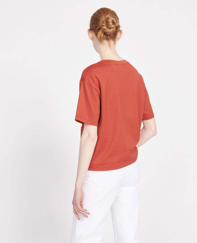 Mercerised cotton Oversize t-shirt Ketchup Lexana