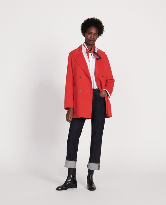 Short coat FIERY RED
