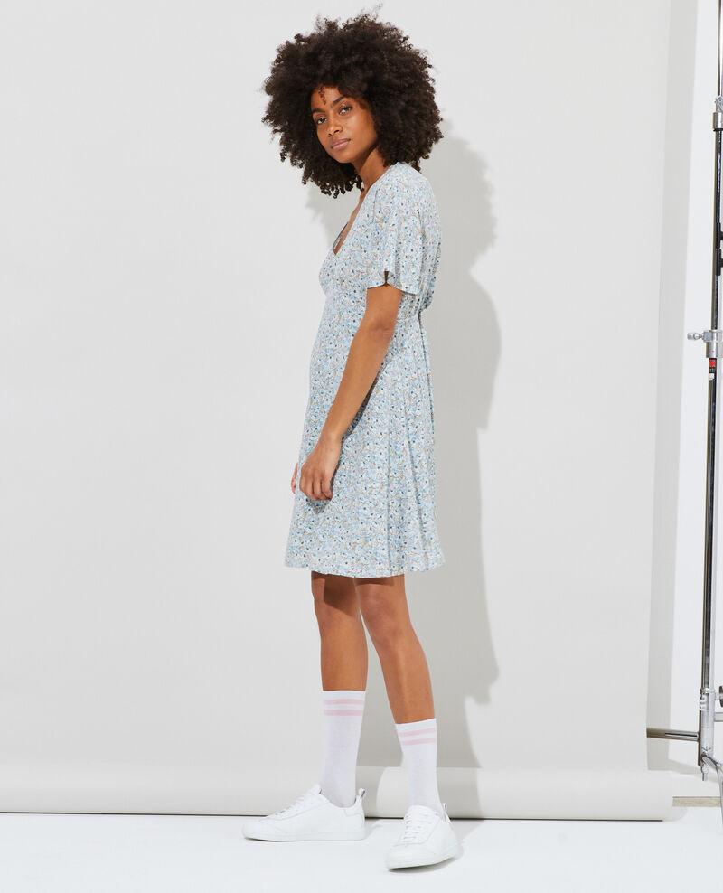 Silk mini dress Art deco blue Pabydoll