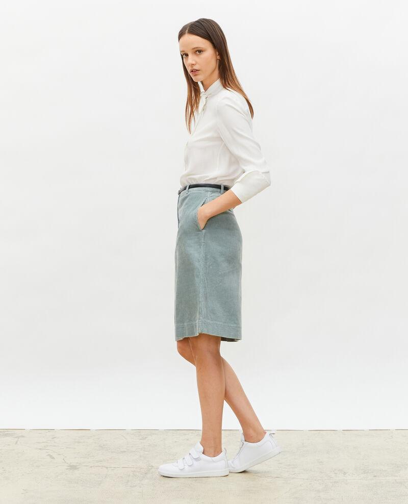 Corduroy A-line skirt Chinois green Meyzieu