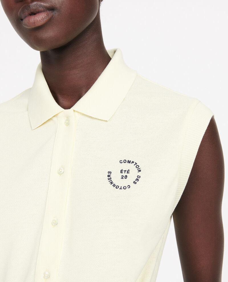 Cotton polo shirt Tender yellow Laurac