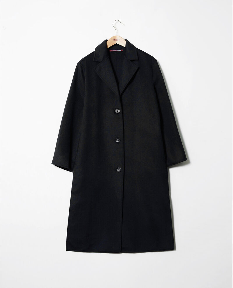 Classic double-sided coat Noir Jacare