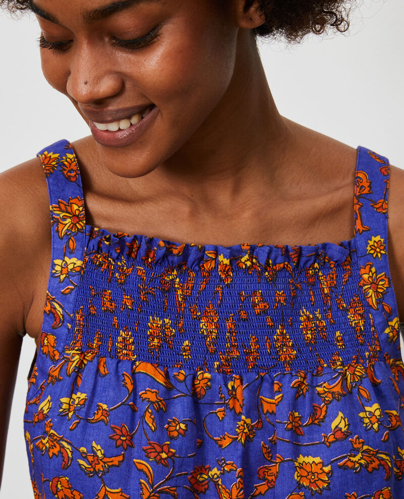 Strappy linen top Indie-big-blue Nantaise
