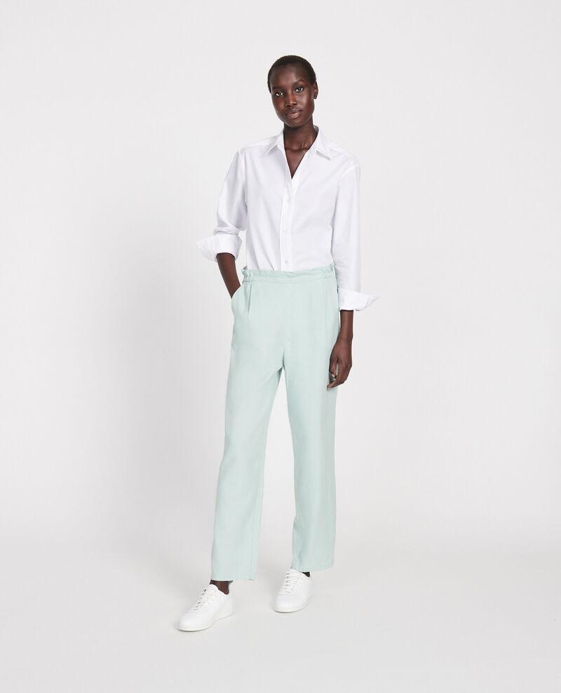 Linen and cotton trousers Blue haze Loranki