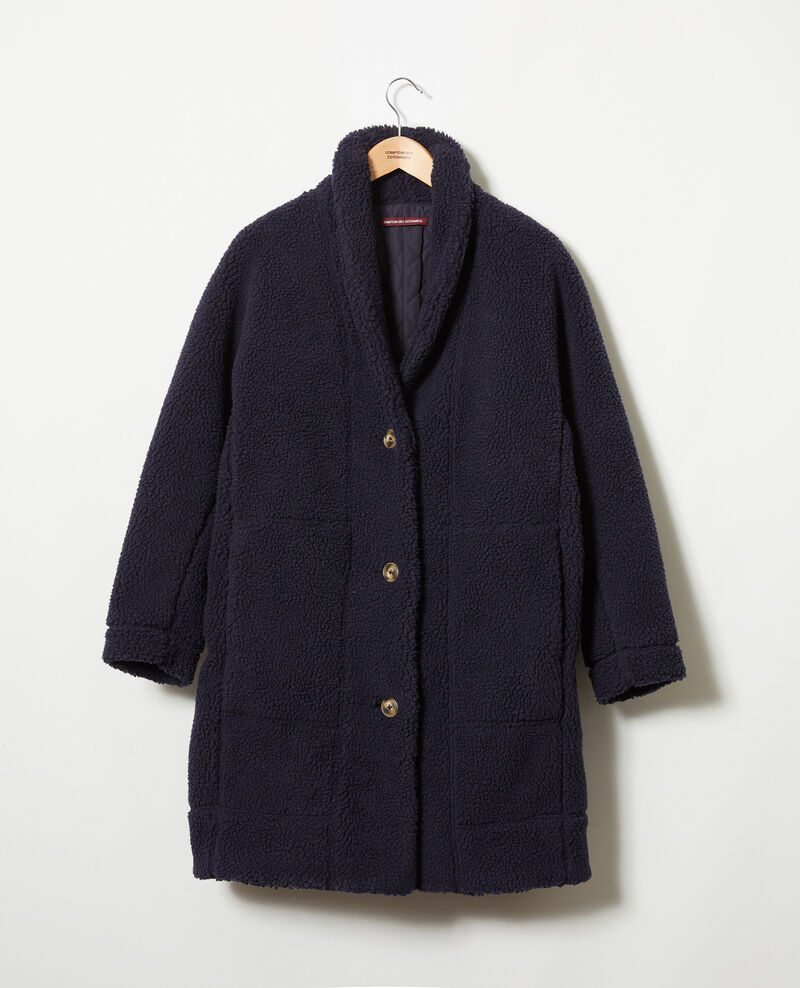 Teddy coat  Dark navy Joliday