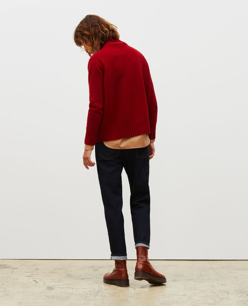 Chunky ribbed turtleneck jumper Royale red Marques