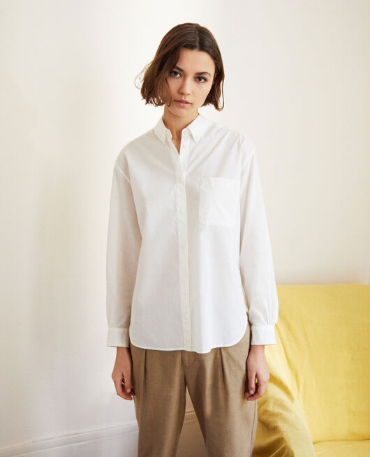 Classic cotton shirt BLANC