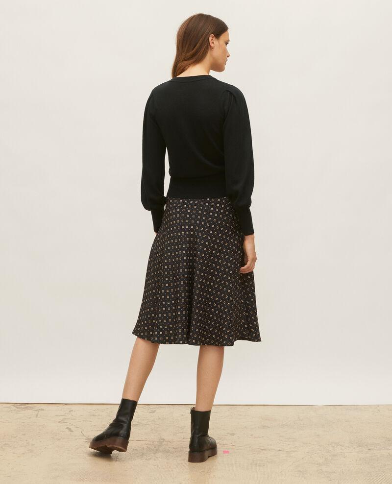 Round neck merino wool jumper Black beauty Molineta