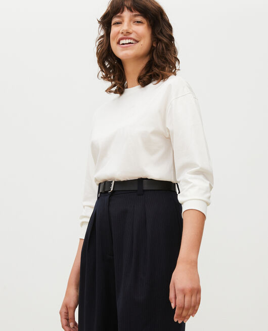 Round neck long-sleeve cotton t-shirt JET STREAM
