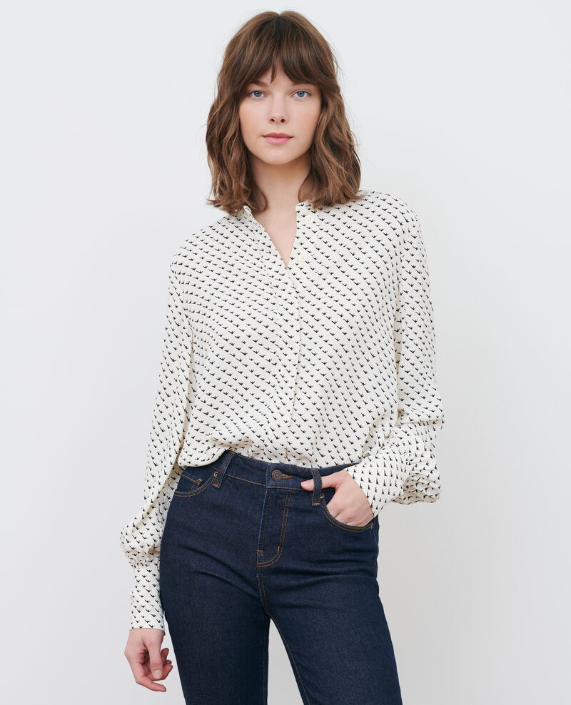 Printed blouse Birdy ivoire Parare