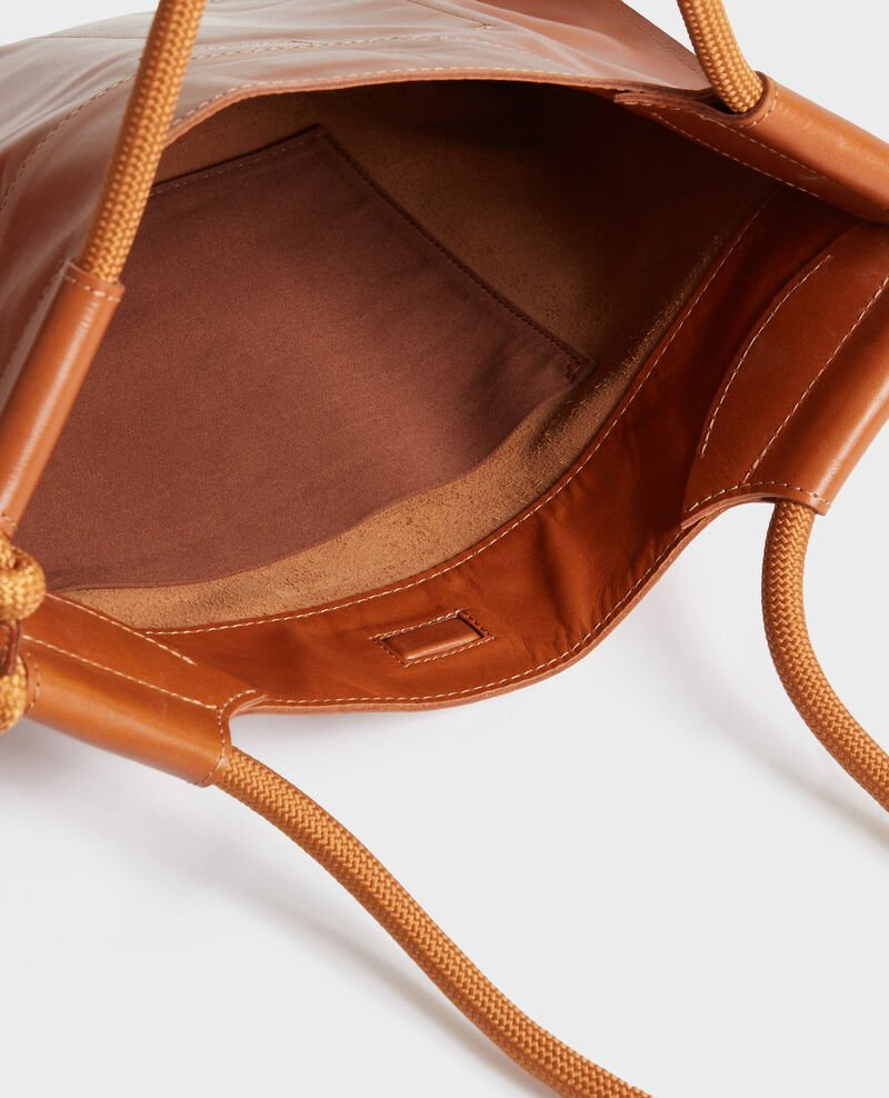 Leather tote Camel Penmarch