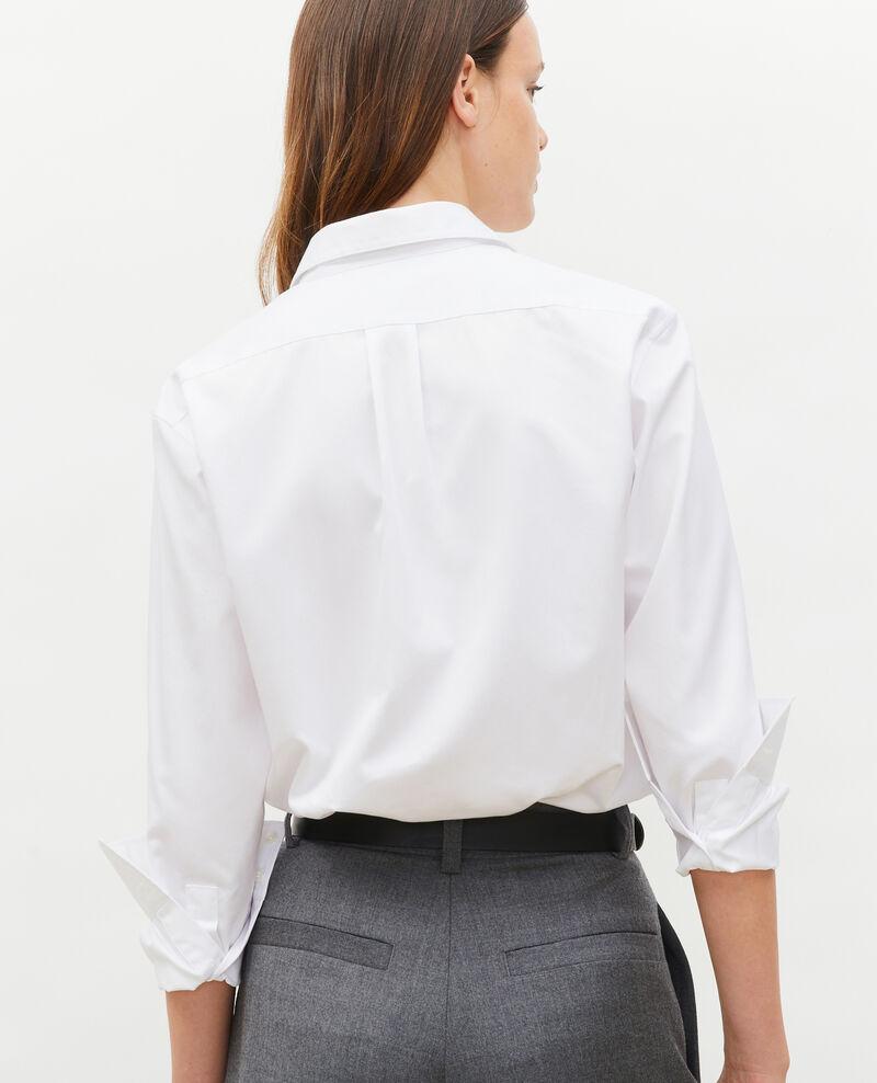 Supima cotton boyfriend shirt Brilliant white Mynde