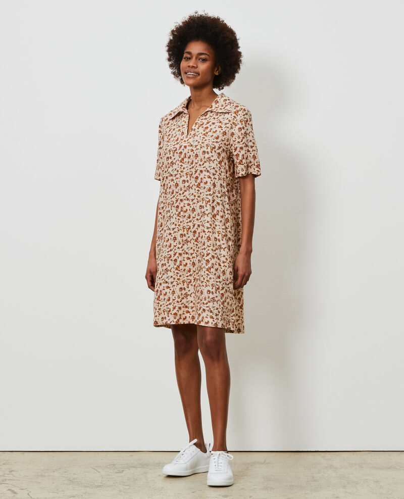Linen tunic dress Indie-small-umber Noaillesse