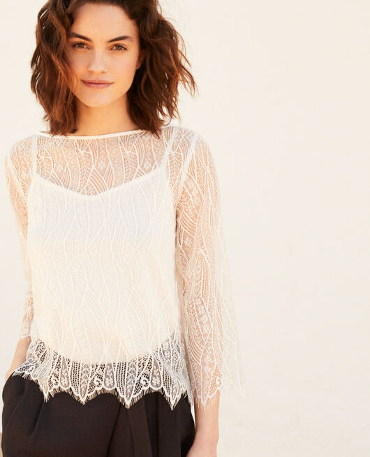 Lace blouse  OFF WHITE