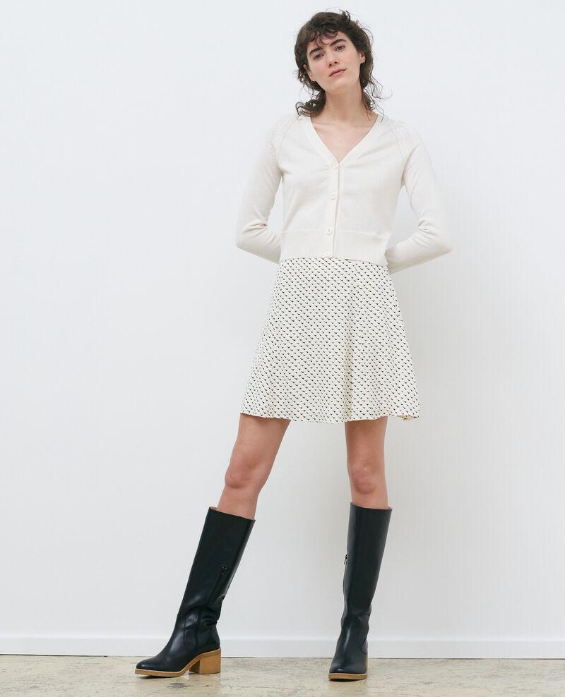 Short silk and cotton cardigan Gardenia Nouma