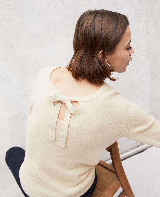 Round neck cashmere jumper LIGHT BEIGE