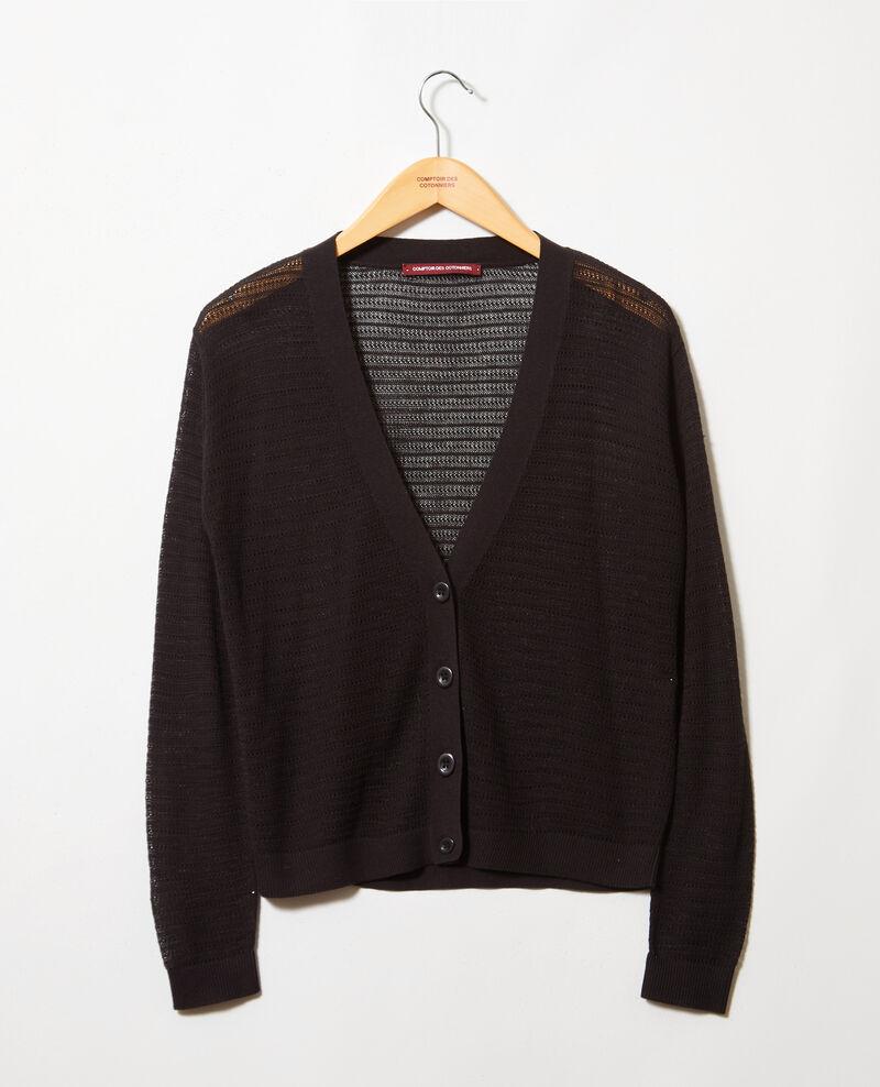 Openwork knit cardigan Noir Icardi