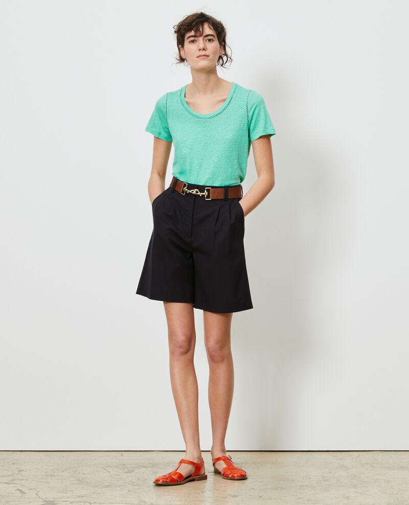 Linen T-shirt Jade cream Lye