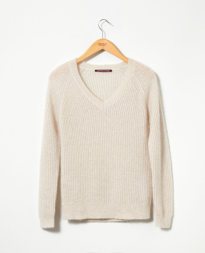 Jumper with mohair and lurex Silver gray/off white/lurex Getoile