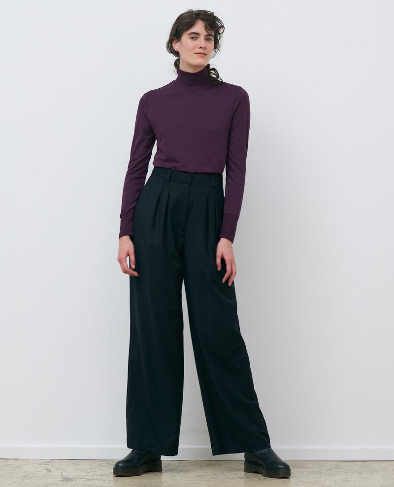 Fine rib knit jumper Potent purple Pylka