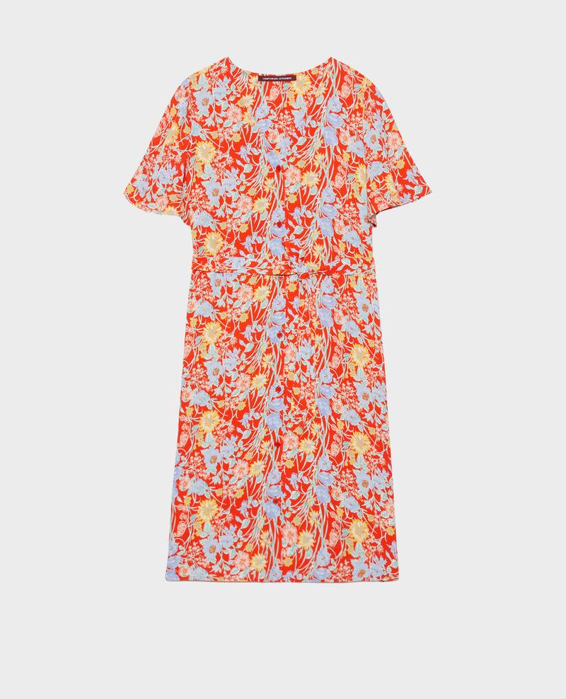 Short printed dress Ete red small Nauvishort