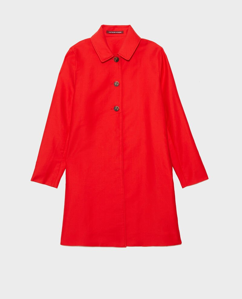 Cotton overcoat Fiery red Loyale