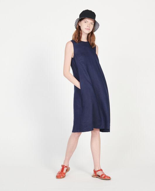 100% linen dress MARITIME BLUE