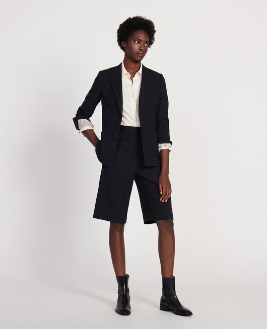 Smooth wool blazer BLACK BEAUTY