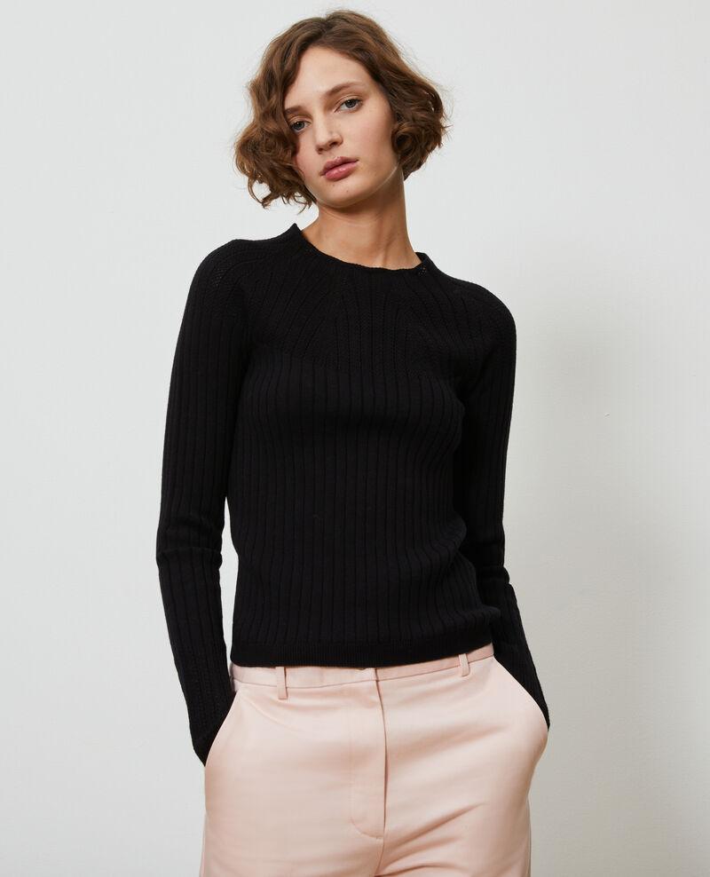 3D knit lace jumper Black beauty Nosard